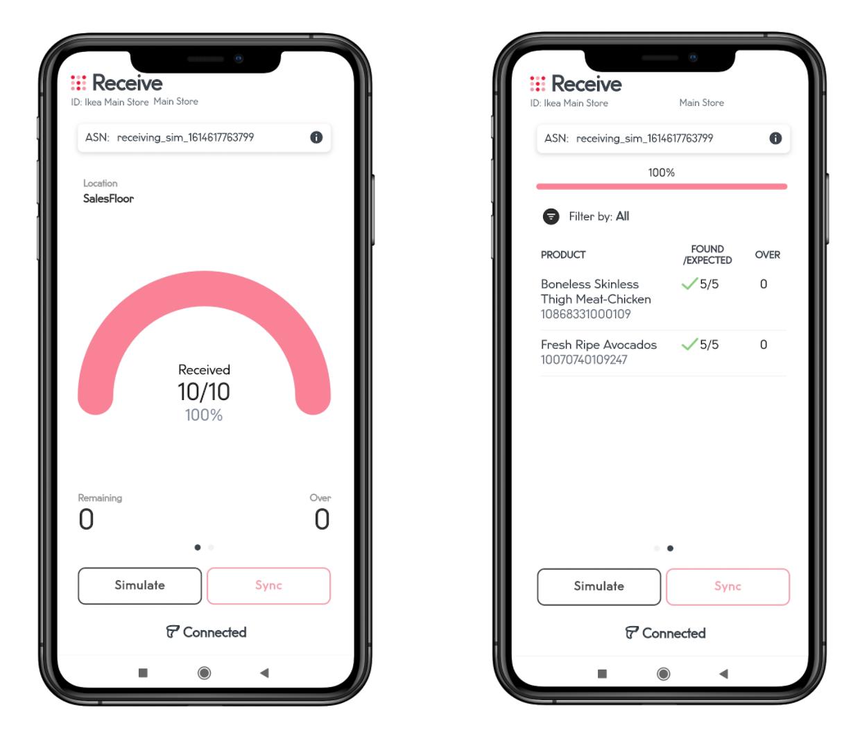 Mojix app - Receive